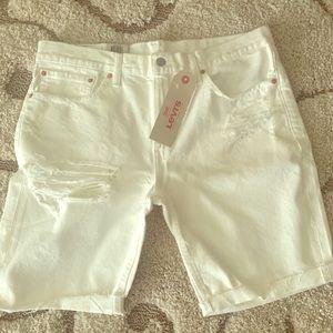 NWT Men's Levi's 511 Size 36 White Shorts